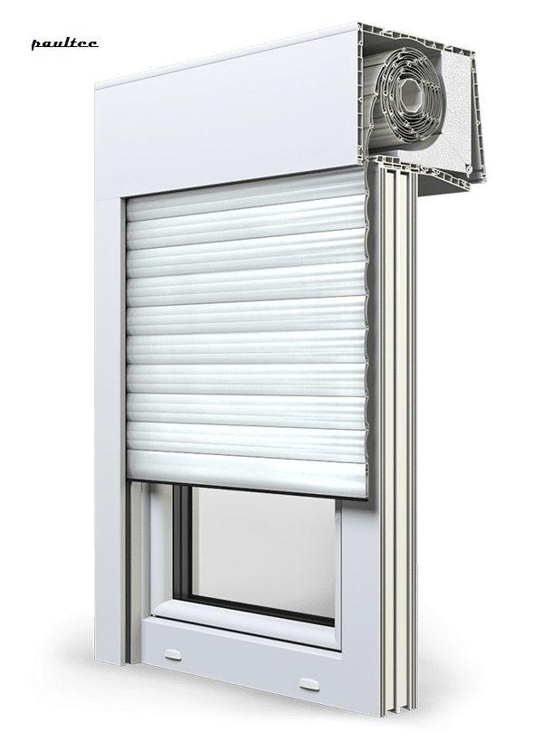 2 Weiß Fenster Rollladen SKT Opoterm Aluprof