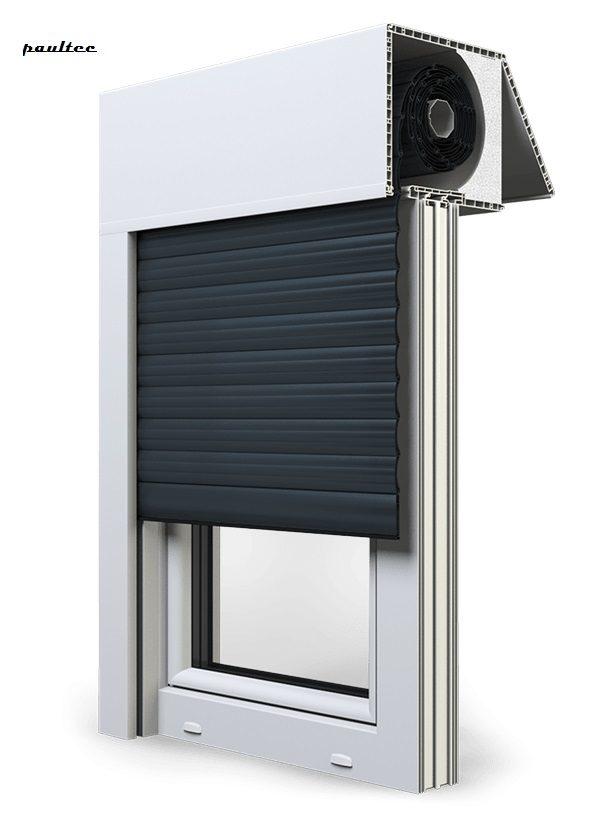 20 Anthrazitgrau Fenster Rollladen EXAKT Exte Aufsatzrollladen Aufbaurollladen