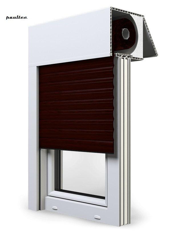 21 Mahagoni Fenster Rollladen EXAKT Exte Aufsatzrollladen Aufbaurollladen