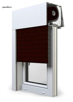 21 Mahagoni Fenster Rollladen Elite XT Exte Aufsatzrollladen Aufbaurollladen