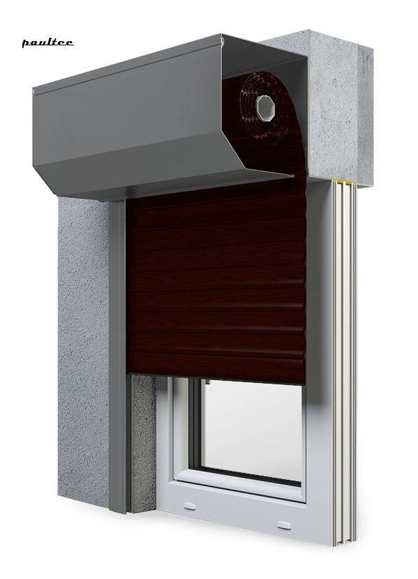 21 Mahagoni Fenster Rollladen SK 45 Vorbaurollladen Aluprof