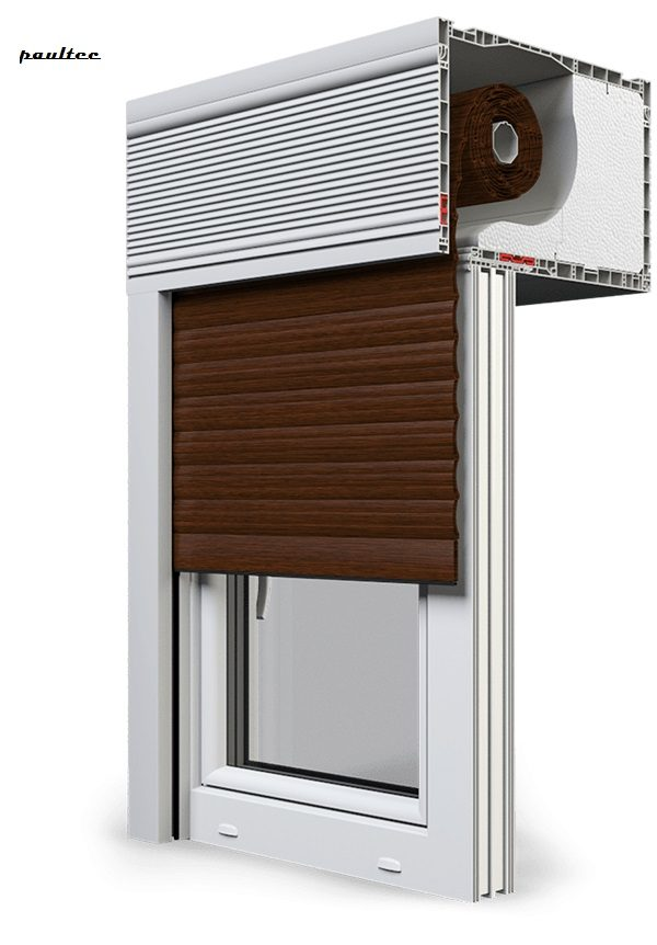 22 Mahagoni Fenster Rollladen CleverBox Beclever