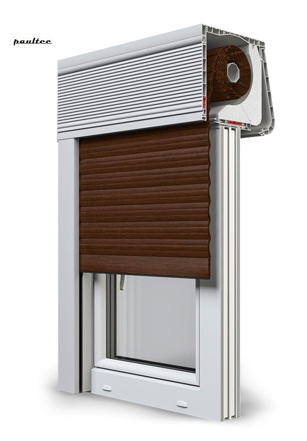 22 Mahagoni Fenster Rollladen CleverBox Soft Beclever