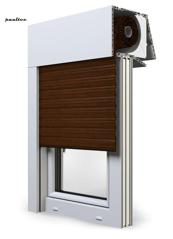 22 Mahagoni Fenster Rollladen EXPERT XT Exte Aufsatzrollladen Aufbaurollladen