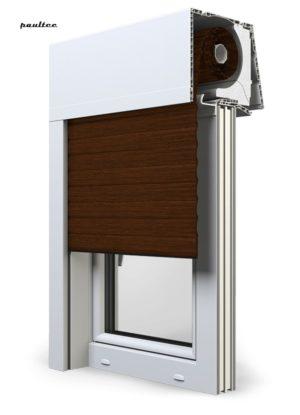 22 Mahagoni Fenster Rollladen Elite XT Exte Aufsatzrollladen Aufbaurollladen