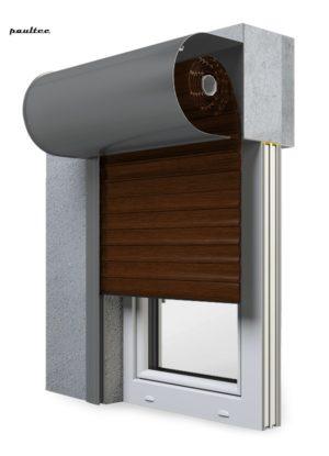 22 Mahagoni Fenster Rollladen SKO-P Vorbaurollladen Aluprof