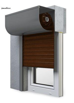22 Mahagoni Fenster Rollladen SKP Vorbaurollladen Aluprof