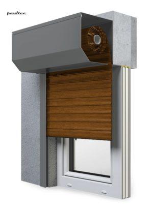 23 goldene Eiche Fenster Rollladen SK 45 Vorbaurollladen Aluprof