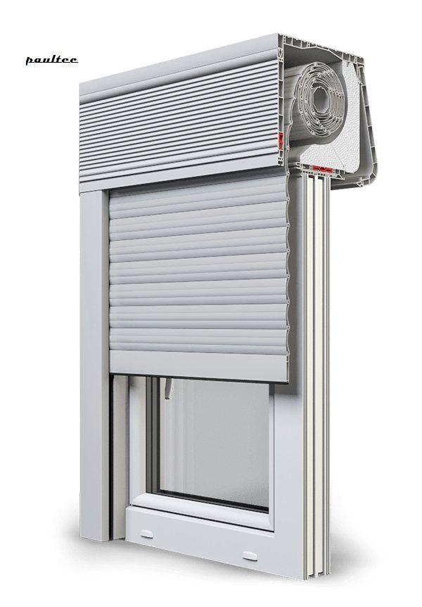 24 Hellgrau Fenster Rollladen CleverBox Soft Beclever