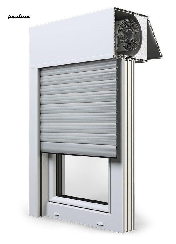 24 Hellgrau Fenster Rollladen EXAKT Exte Aufsatzrollladen Aufbaurollladen