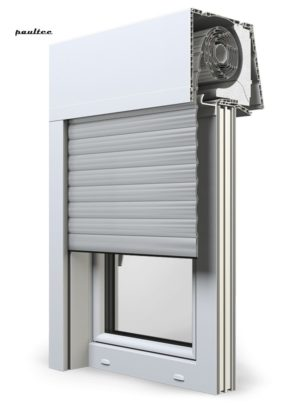 24 Hellgrau Fenster Rollladen Elite XT Exte Aufsatzrollladen Aufbaurollladen