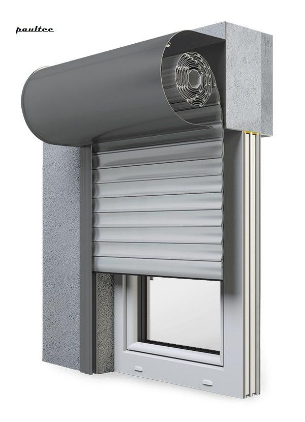24 Hellgrau Fenster Rollladen SKO-P Vorbaurollladen Aluprof