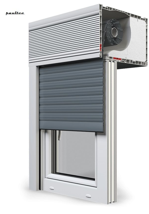 25 Basaltgrau Fenster Rollladen CleverBox Beclever