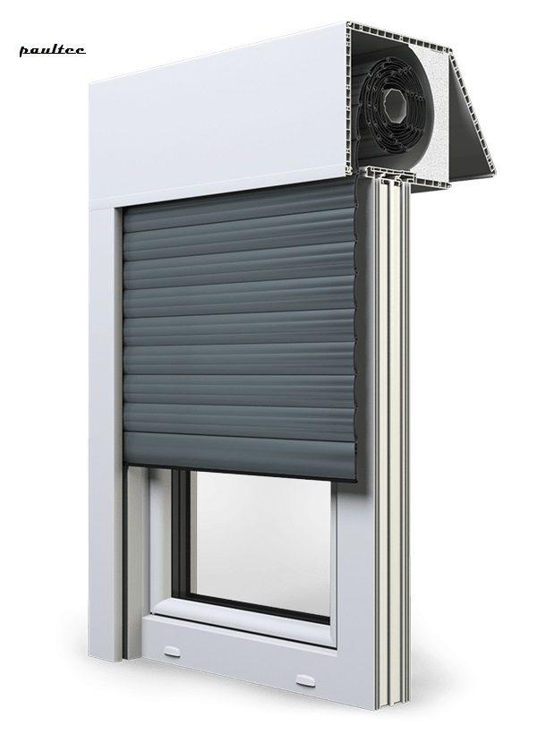 25 Basaltgrau Fenster Rollladen EXAKT Exte Aufsatzrollladen Aufbaurollladen