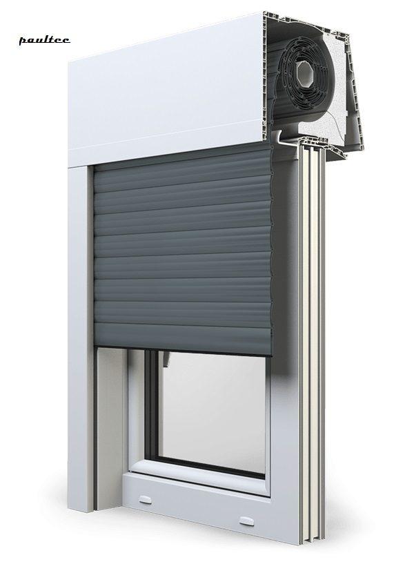 25 Basaltgrau Fenster Rollladen Elite XT Exte Aufsatzrollladen Aufbaurollladen