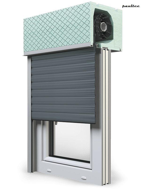 25 Basaltgrau Fenster Rollladen ROKA TOP 2RG Unterputzrollladen Beck-Heun