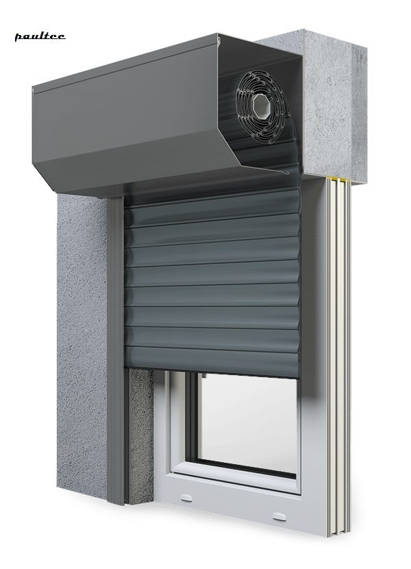 25 Basaltgrau Fenster Rollladen SK 45 Vorbaurollladen Aluprof