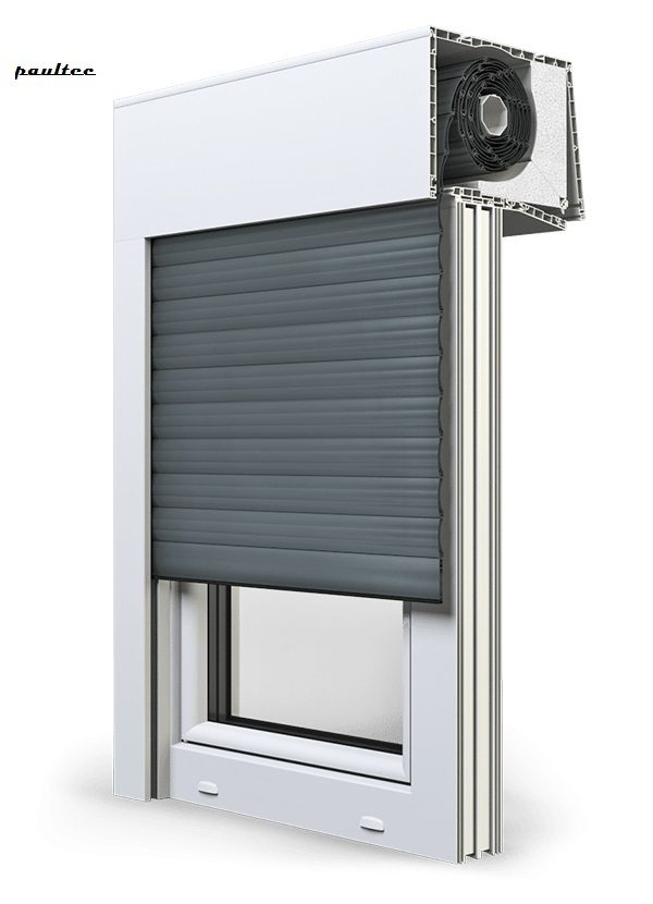 25 Basaltgrau Fenster Rollladen SKT Opoterm Aluprof