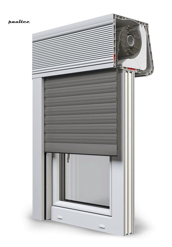 26 Quarzgrau Fenster Rollladen CleverBox Soft Beclever
