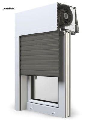 26 Quarzgrau Fenster Rollladen Elite XT Exte Aufsatzrollladen Aufbaurollladen