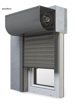 26 Quarzgrau Fenster Rollladen SKP Vorbaurollladen Aluprof