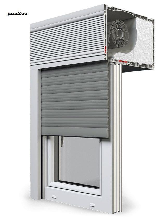 27 Betongrau Fenster Rollladen CleverBox Beclever