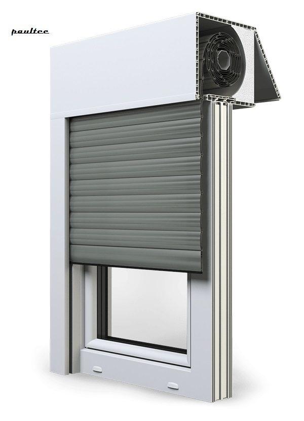 27 Betongrau Fenster Rollladen EXAKT Exte Aufsatzrollladen Aufbaurollladen