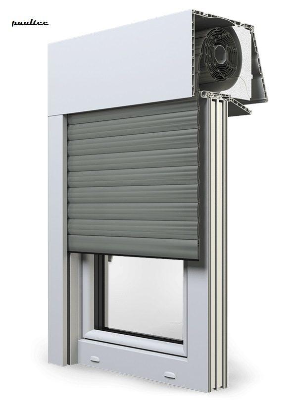 27 Betongrau Fenster Rollladen EXPERT XT Exte Aufsatzrollladen Aufbaurollladen