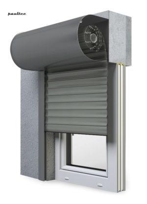 27 Betongrau Fenster Rollladen SKO-P Vorbaurollladen Aluprof