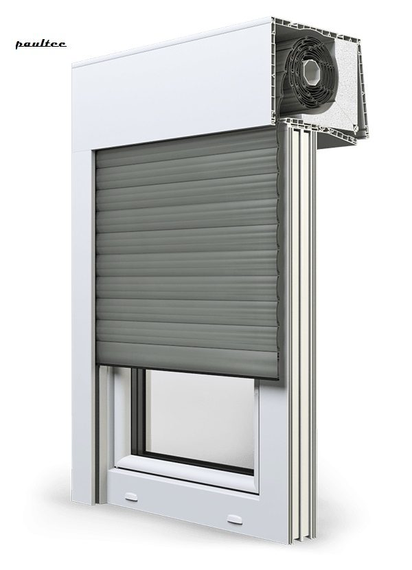 27 Betongrau Fenster Rollladen SKT Opoterm Aluprof