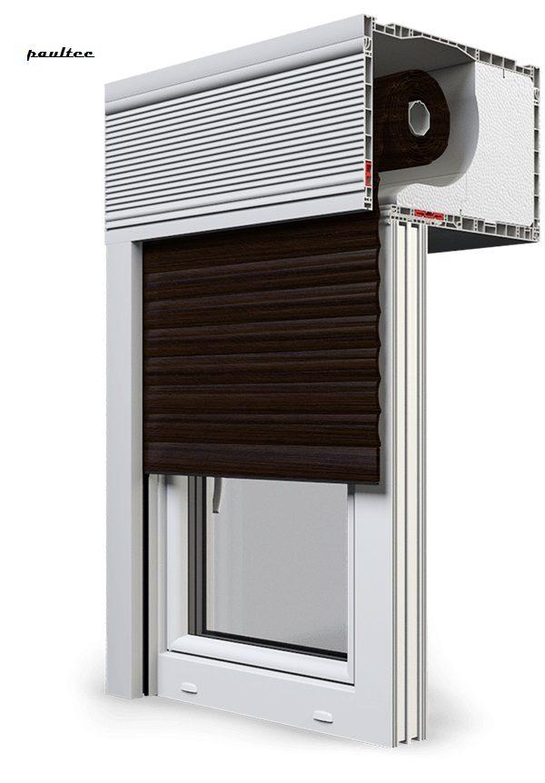 28 Wenge Fenster Rollladen CleverBox Beclever