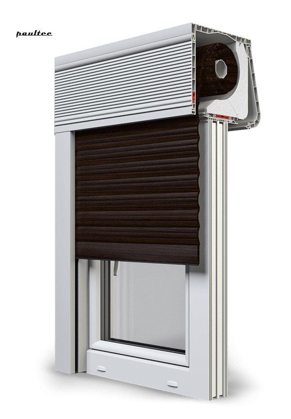28 Wenge Fenster Rollladen CleverBox Soft Beclever