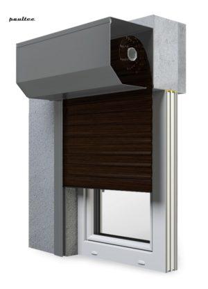 28 Wenge Fenster Rollladen SK 45 Vorbaurollladen Aluprof