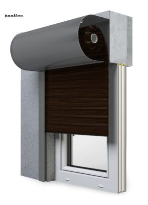 28 Wenge Fenster Rollladen SKO-P Vorbaurollladen Aluprof