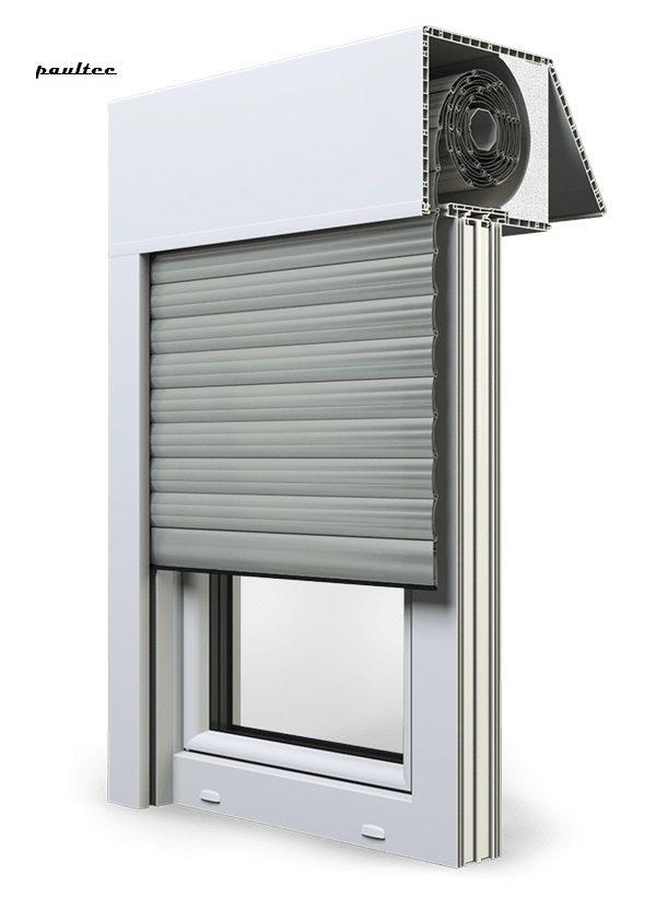 3 Grau Fenster Rollladen EXAKT Exte Aufsatzrollladen Aufbaurollladen