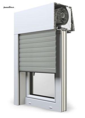 3 Grau Fenster Rollladen Elite XT Exte Aufsatzrollladen Aufbaurollladen