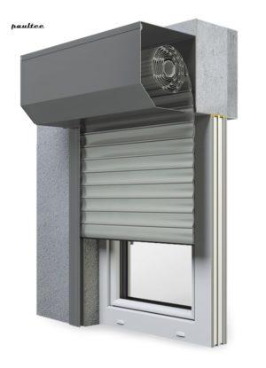 3 Grau Fenster Rollladen SK 45 Vorbaurollladen Aluprof