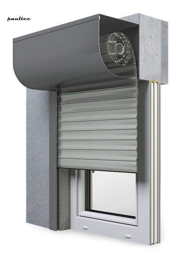 3 Grau Fenster Rollladen SKP Vorbaurollladen Aluprof