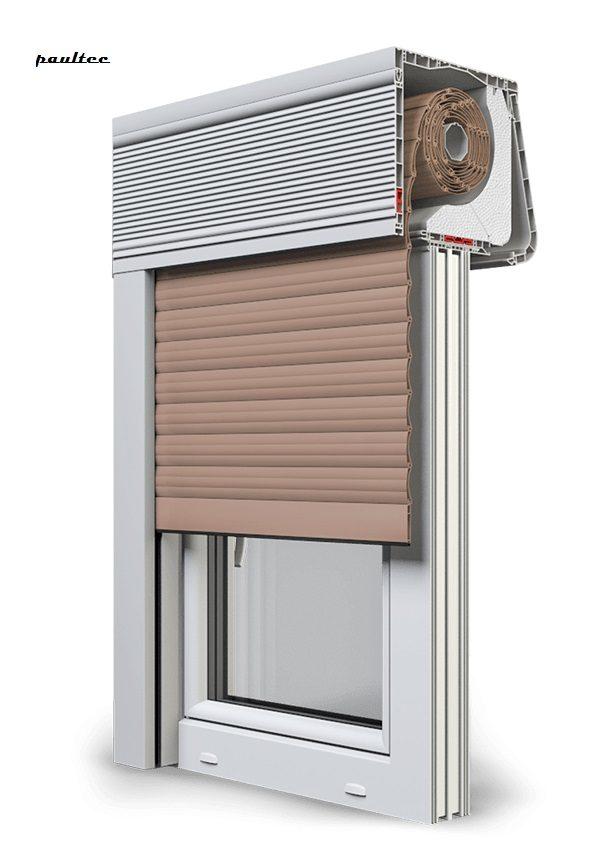 4 Dunkelbeige Fenster Rollladen CleverBox Soft Beclever