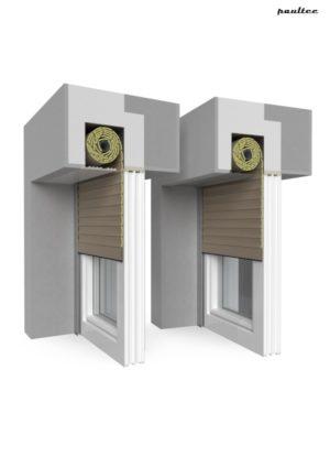 4 Dunkelbeige Fenster Rollladen QuadBox Unterputzrollladen BeClever