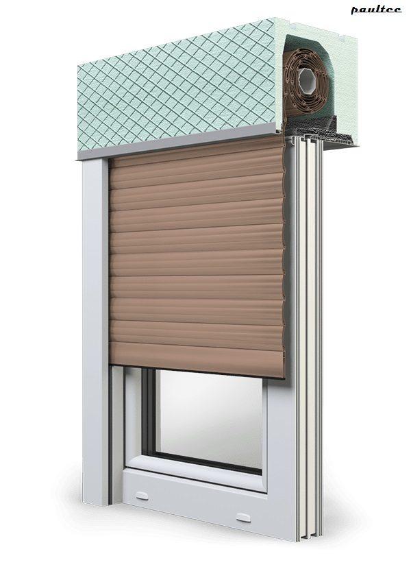 4 Dunkelbeige Fenster Rollladen ROKA TOP 2 Unterputzrollladen Beck-Heun