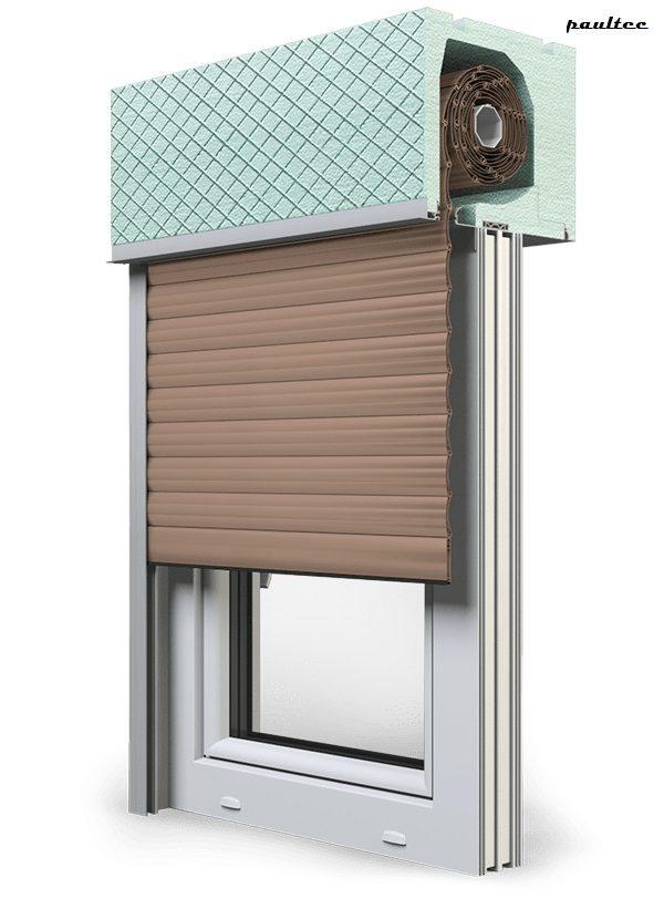 4 Dunkelbeige Fenster Rollladen ROKA TOP 2RG Unterputzrollladen Beck-Heun