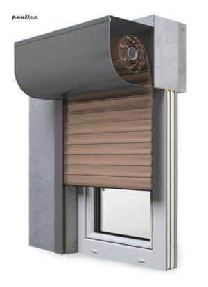4 Dunkelbeige Fenster Rollladen SKP Vorbaurollladen Aluprof