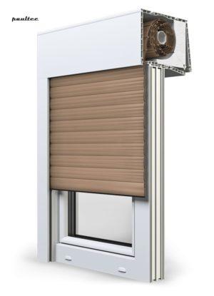 4 Dunk\elbeige Fenster Rollladen SKT Opoterm Aluprof