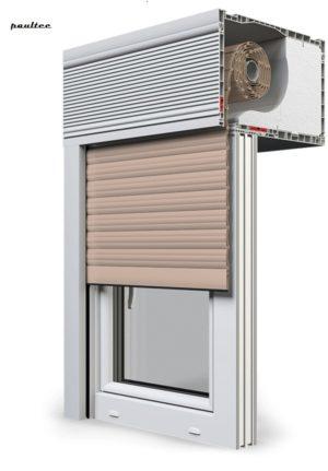 5 beige Fenster Rollladen CleverBox Beclever