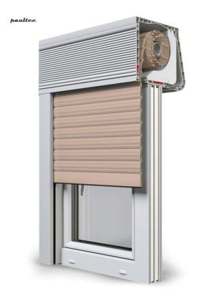 5 beige Fenster Rollladen CleverBox Soft Beclever