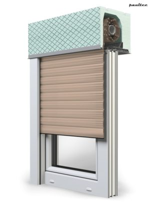 5 beige Fenster Rollladen ROKA TOP 2 Unterputzrollladen Beck-Heun