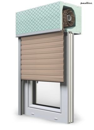 5 beige Fenster Rollladen ROKA TOP 2RG Unterputzrollladen Beck-Heun