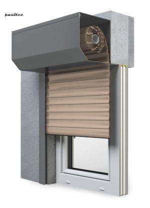 5 beige Fenster Rollladen SK 45 Vorbaurollladen Aluprof