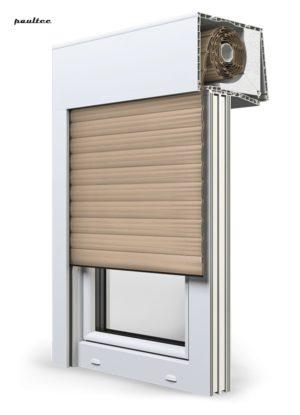 5 beige Fenster Rollladen SKT Opoterm Aluprof